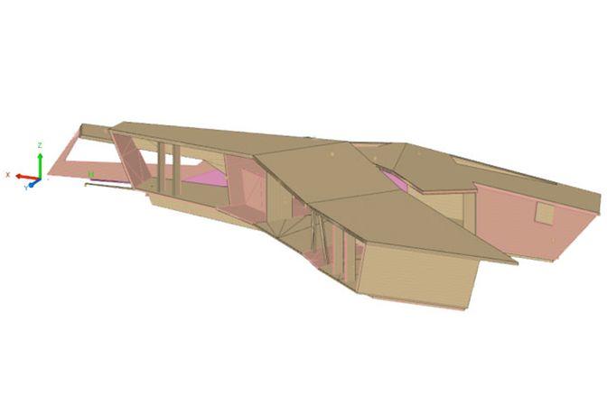3D Konstruktionszeichnung des Entwurfs