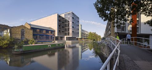Aussenansicht Orsman Road 6, direkt am Regent´s Canal © B&K Structures Ltd. Peveril House