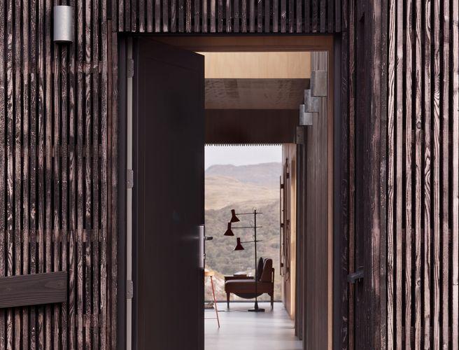 Eingangsbereich mit Blick durch das gesamte Haus © David Barbour