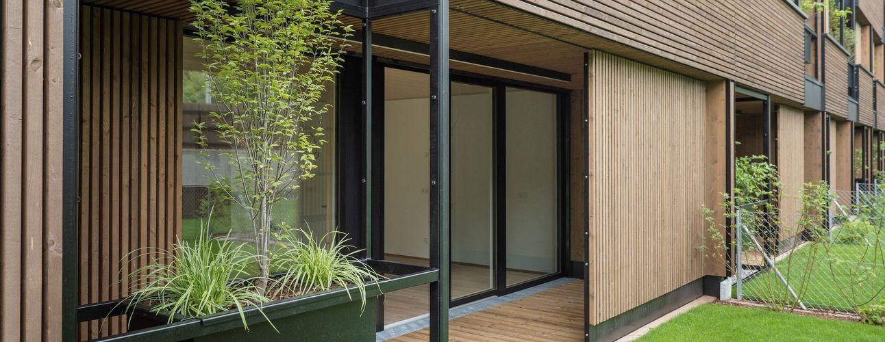 Terrasse mit verschiebbaren Elementen © Foto Gretter / Unterberger Immobilien