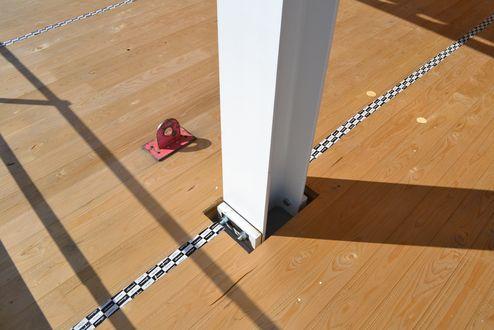Anschlussdetail Stahlstütze © binderholz