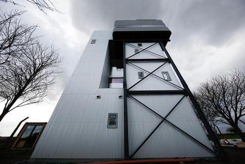Der neue Wasserturm mit neuem Wohnraum © Mike Tonkin and Dennis Pederson