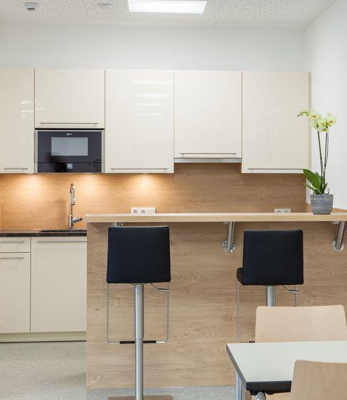 Küche und Aufenthaltsbereich