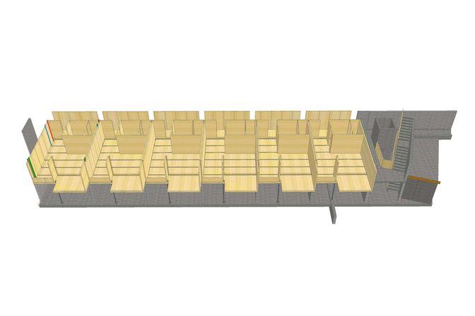 3D Rendering des 1OG mit BBS Elementen