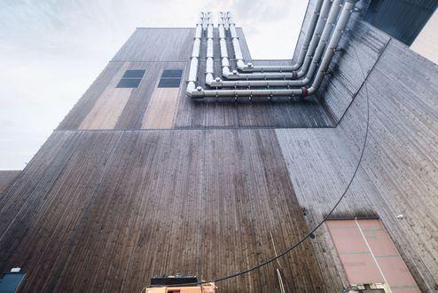 Außenansicht mit Fassadendetail © binderholz