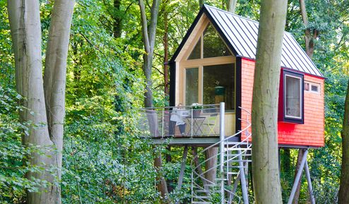 Ansichten der drei individuellen Baumhaussuiten