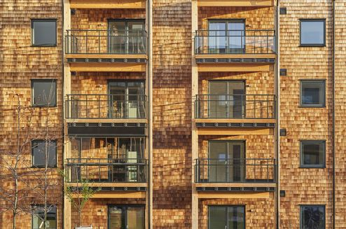 Holz als zentrales Element des Neubaus © Åke Eson © ARKITEKTBOLAGET