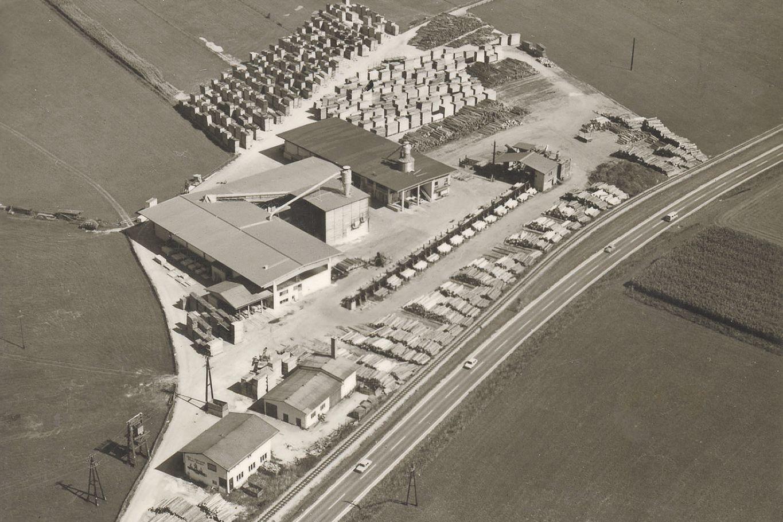 Neubau Zweigattersägewerk 1972