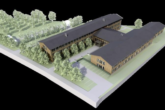 Visualisierung des Gebäudekomplexes