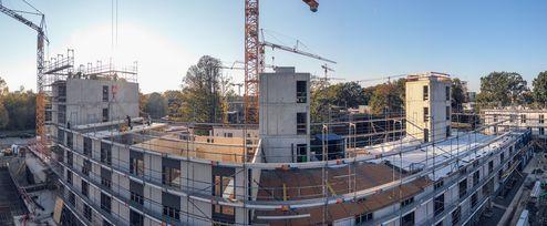 Baustellegesamtansicht von Baufeld WA Baufeld 16 West © binderholz