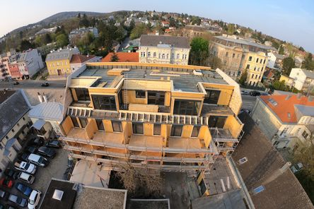 Baustellegesamtansicht von Oben © Karl Mach Holzbau GmbH