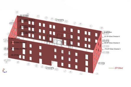 Erdbeben Modellierung eines Gebäudes