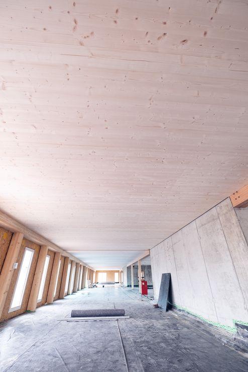 Decke aus Brettsperrholz BBS Elemente © binderholz