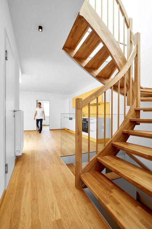 Stiege von der Wohnküche zum Spitzboden © Gerhard Hauser, Alexander Schmid
