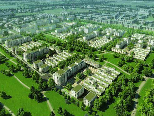 Visualisierung des Prinz-Eugen-Parks © GSP Architekten