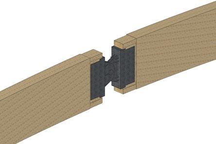 3D-Rendering vom 3-Punktbogentragwerk