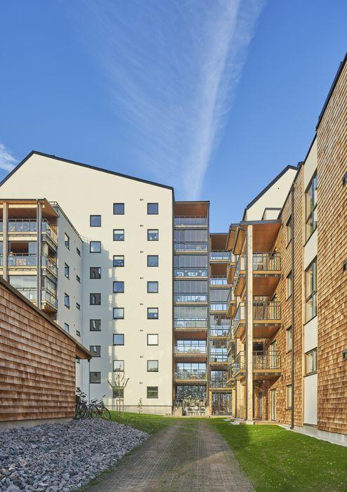 Außenansicht des neuen Wohnhauses © Åke Eson © ARKITEKTBOLAGET
