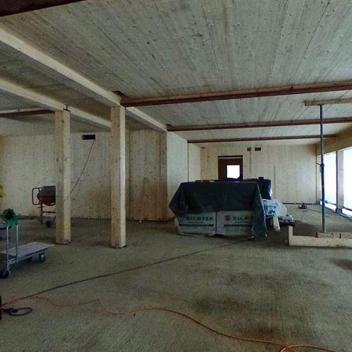 Die tragende Struktur und das Dach wurden mit Brettsperrholz BBS Elemente realisiert © Carsten Groth