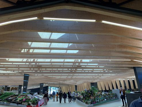 L'aspect chaleureux du bois en qualité visuelle © binderholz