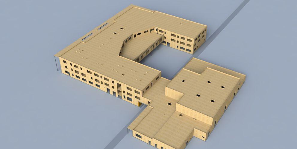 BIM Gebäude mit BBS Elementierung