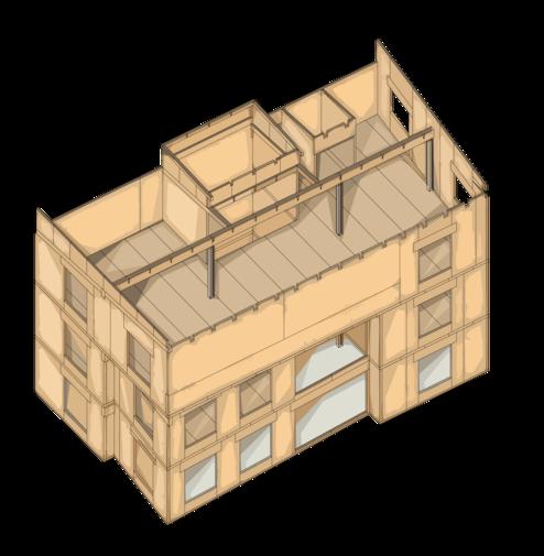 3D Rendering der Tragstruktur
