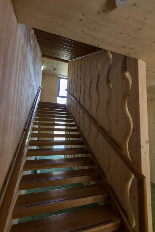 Stiegenhaus aus Holz © Schafferer Holzbau GmbH