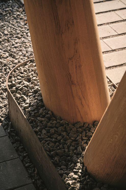 Colonne in legno nella zona d'ingresso © Manfred Jarisch, Bayerische Staatsforsten