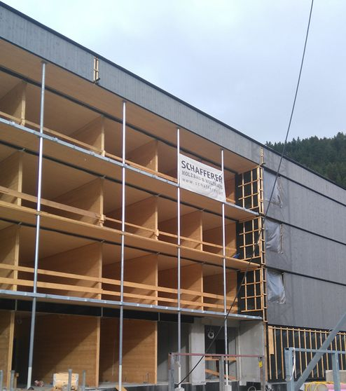 Massivholzbauweise mit binderholz Brettsperrholz BBS © Schafferer Holzbau GmbH