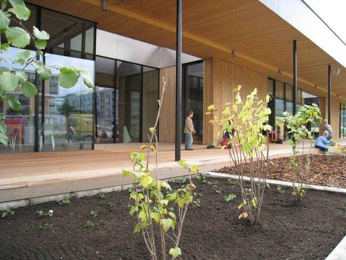 binderholz Brettsperrholz BBS - Kindergarten mit Profilholzfassade