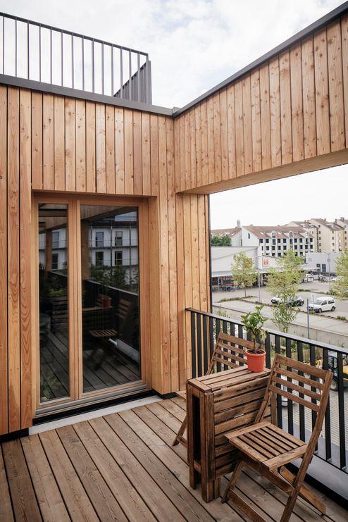 Veduta del nuovo edificio dal cortile interno © Manfred Jarisch, Bayerische Staatsforsten