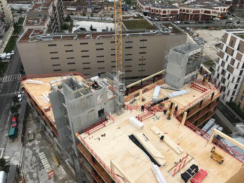 Baustellenübersicht von oben © binderholz