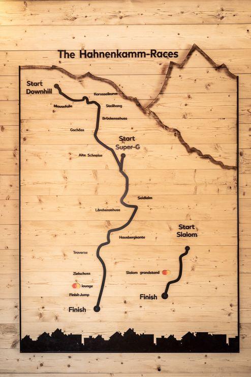 Hahnenkamm-Rennstrecken als Wandbild © WWP