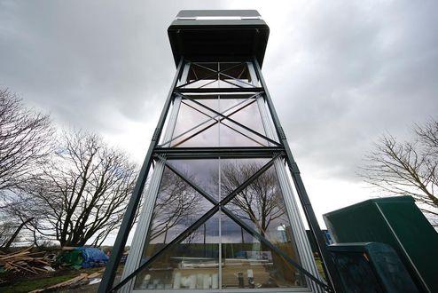 Der neue Wasserturm mit integrierter binderholz Brettsperrholz BBS Treppe © Mike Tonkin and Dennis Pederson
