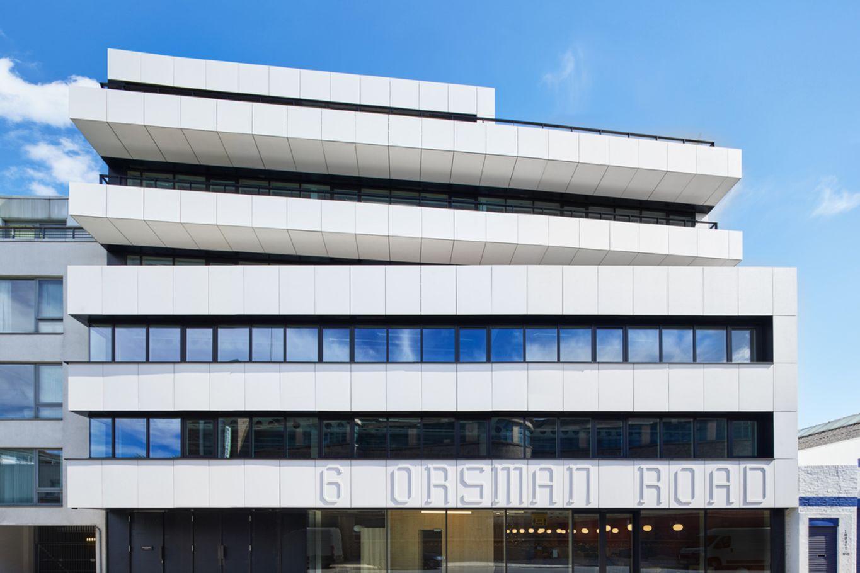 Bürogebäude Orsman Road 6 Außenansicht © Waugh Thistleton Architects
