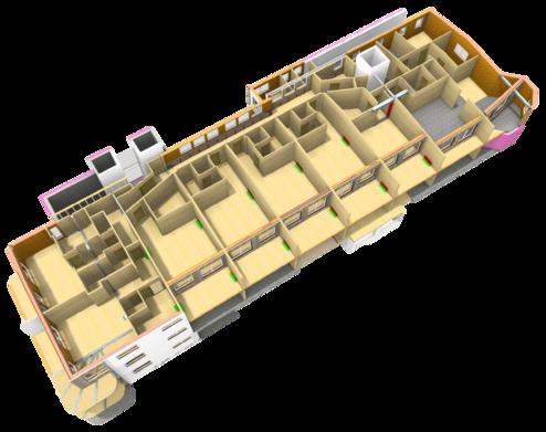 3D-Renderings der Hotelaufstockung