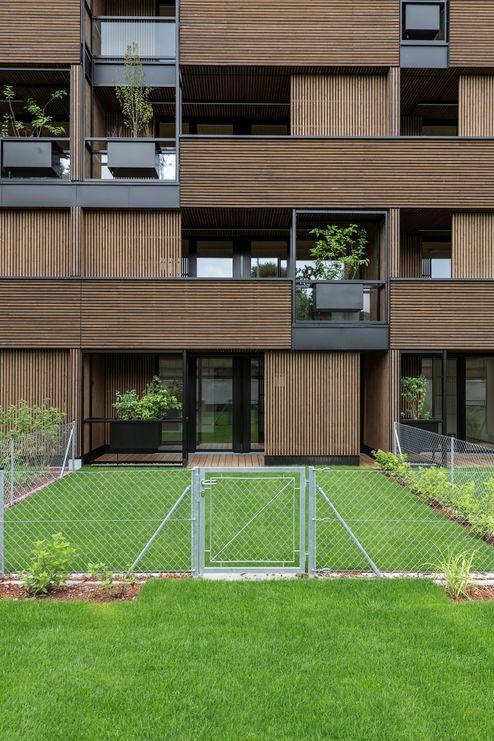 Wasserautarke Fassade mit verschiebbaren Elementen © Foto Gretter / Unterberger Immobilien