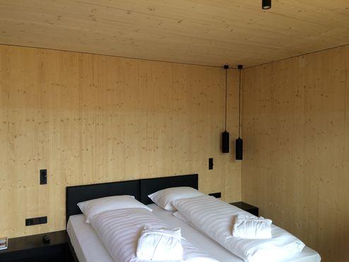 Schlafzimmer in BBS Sichtqualität ausgeführt