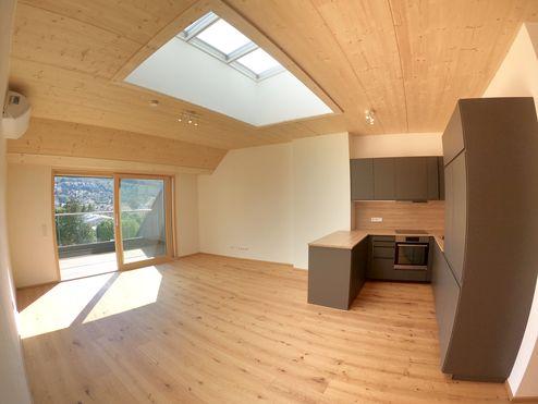 Sichtbares Brettsperrholz BBS im Wohnraum © Karl Mach Holzbau GmbH