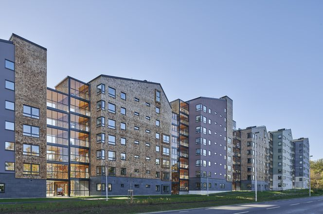Die Schlichten Baukörper fügen sich optimal in die Umgebung © Åke Eson © ARKITEKTBOLAGET