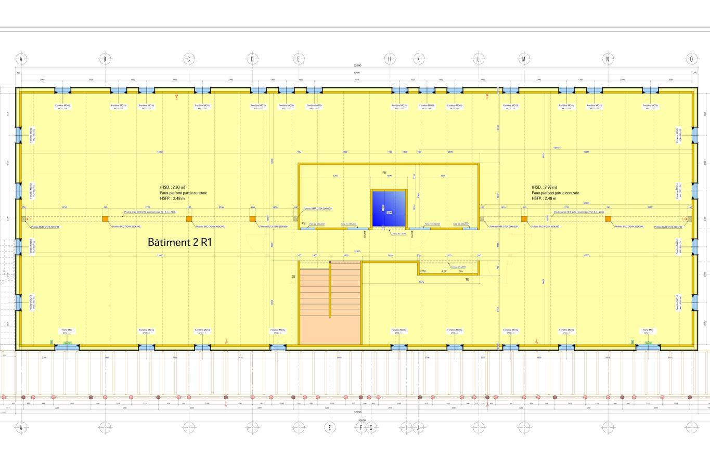 Ausführungsplan für das 1. OG des zweiten Gebäudes