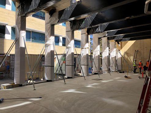 Montage der Brettschichtholz Elemente © architectus