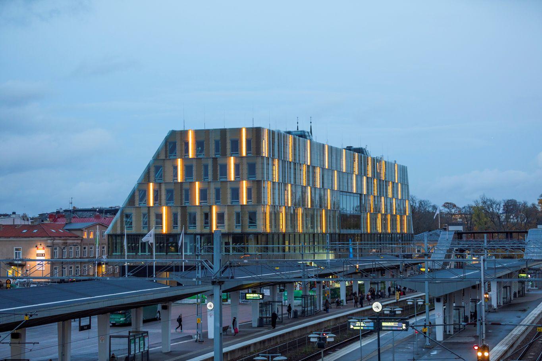 Beleuchtung des neuen Gebäudekomplexes © Anders Bergön