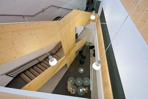 Stiegenhaus aus binderholz Brettsperrholz BBS Elementen