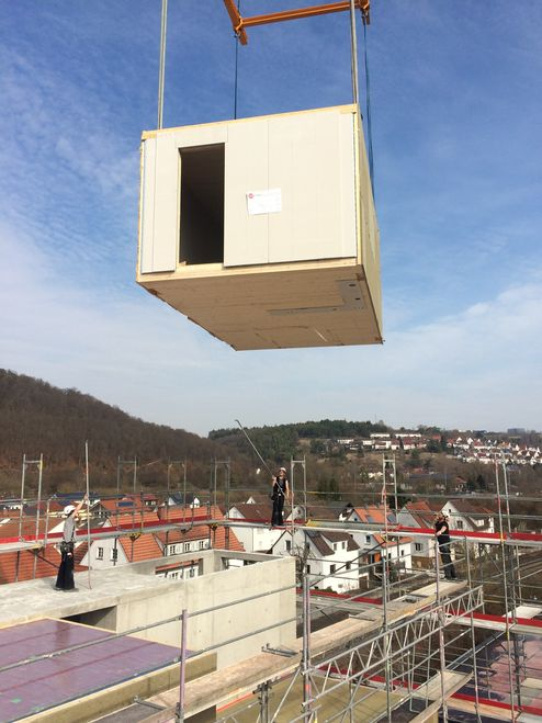Holz Neubau in Modulbauweise © müllerblaustein