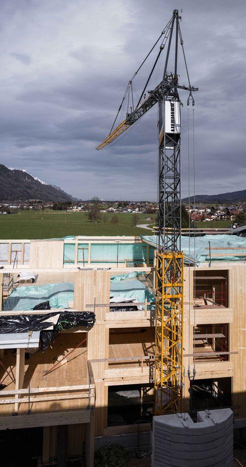 Bauarbeiten am Neubau der Schule